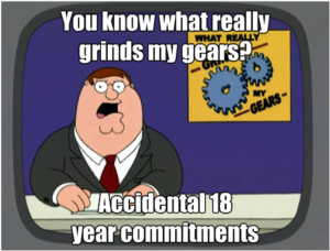 Lances Rants - GrindsMyGears - 18 yr commitments